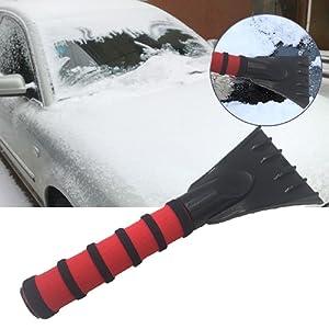 Boonor 2pc Raschietto per ghiaccio in polistirene ad alto impatto raschietto per ghiaccio con impugnatura morbida Antiscivolo integrato