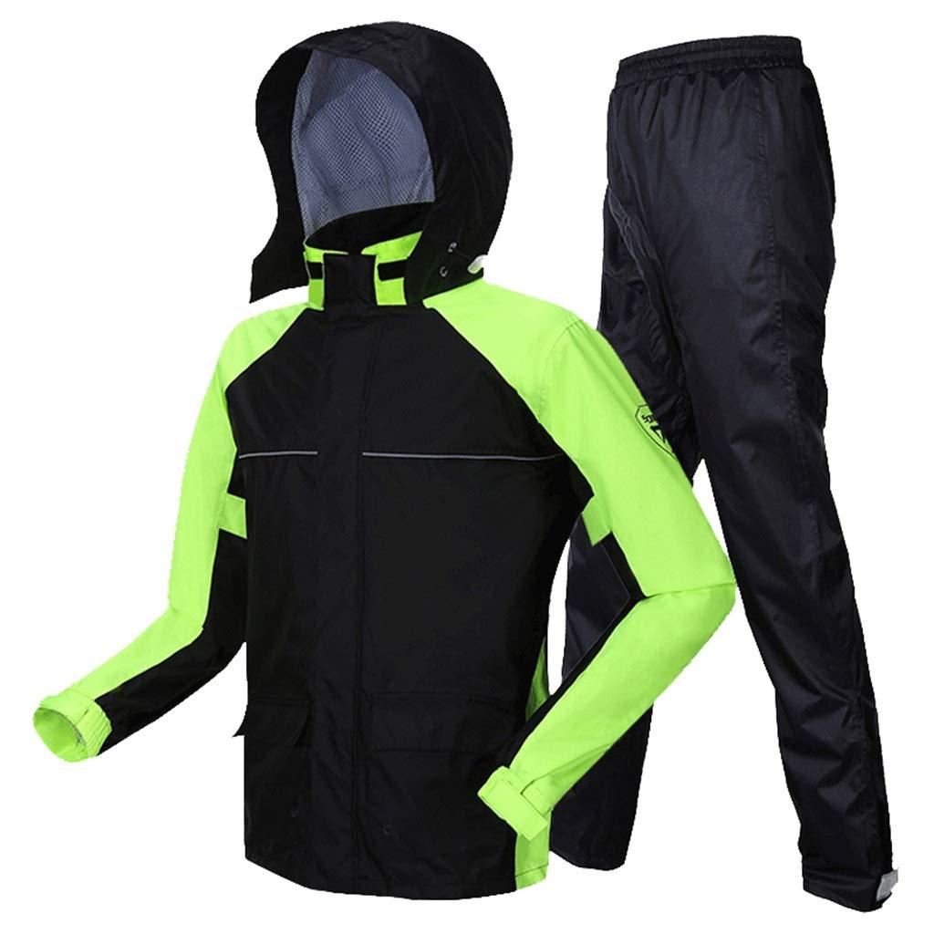 B grand Ensemble imperméable de Pantalon de Pluie imperméable à l'eau de Moto légère (Taille  S M L XL   2XL) (Couleur   B, Taille   M)