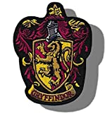 "[Single Count] Custom and Unique (3.5'' x 3'' Inch) Shield Shaped ""Emblem"" ''Gryffindor'' Harry Potter House Crest Embroidered Applique Patch {Red, Yellow, Grey, & Yellow Colors} [Licensed]"