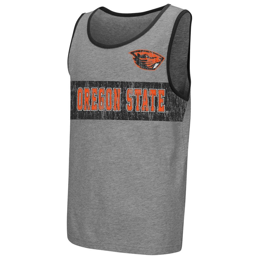 Colosseum Youth NCAA Oregon State Beavers Tank Top Heather Grey