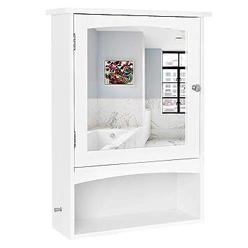 Vasagle Spiegelschrank Wandschrank Verstellbarem Einlegeboden