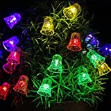 Outdoor Strings of Solar Lights 20 LED 16ft Bell
