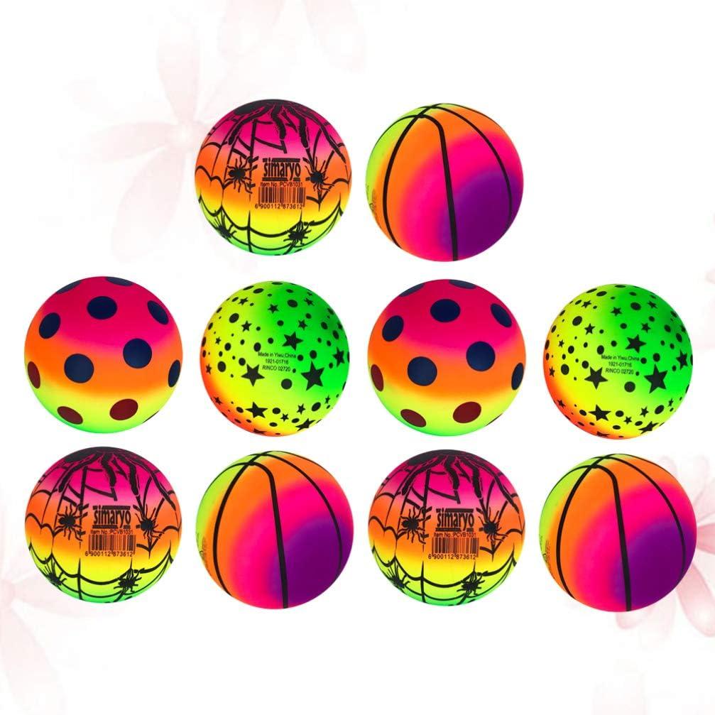 Leoboone 6 Colores Salta la Bola Al Aire Libre Diversi/ón Pelotas de Juguete Cl/ásico Saltar Juguete Equipo de Ejercicio f/ísico Anime a los ni/ños a Hacer Ejercicio