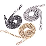 Swpeet-3Pcs-Luxury-Fashion-47-Inche-Replacement-Flat-Chain-Strap-with-Buckles-Set-Perfect-for-DIY-Metal-Should