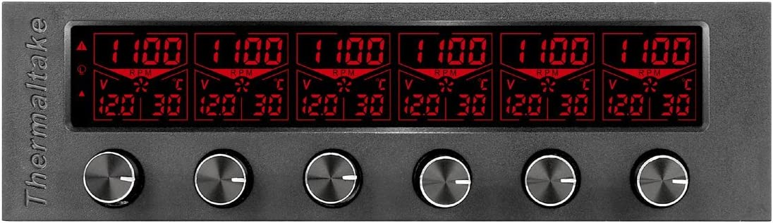 Thermaltake Commander F6 RGB LCD 6 Channel Single 5.25'' Bay Fan Controller AC-024-BN1NAN-A1