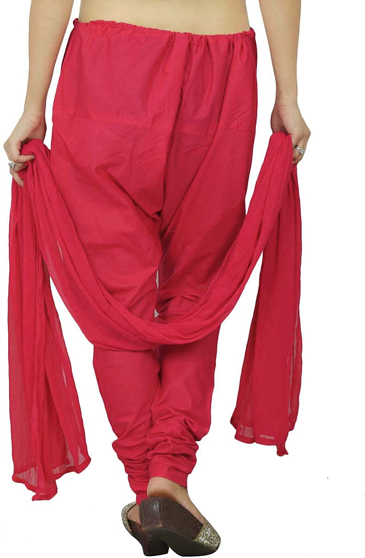 Cotton Adjustable Plain Salwar With Chiffon Dupatta Ethnic Wear Gift For
