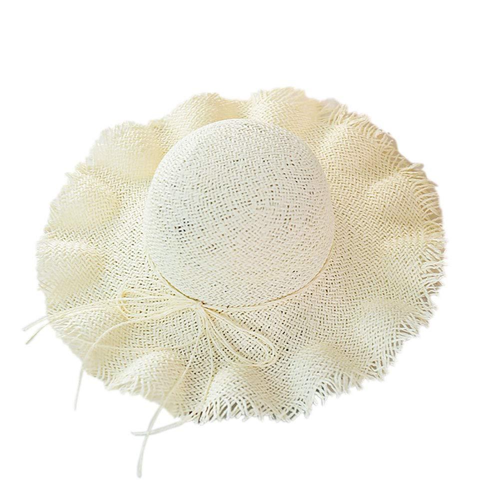 Kentop Strohhut Damen Sonnenhut gro/ß Breite Krempe UV Schutz Sommer Strandhut Khaki