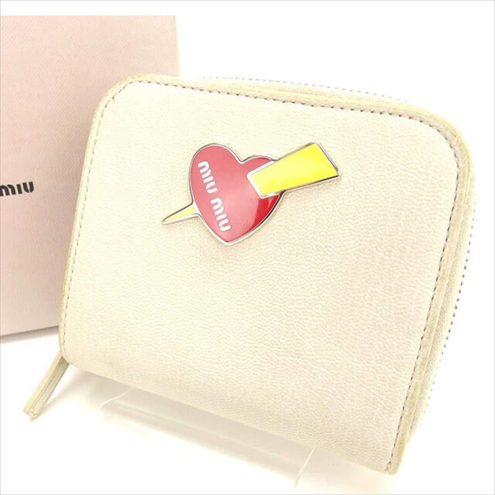 ミュウミュウ miumiu 二つ折り財布 ラウンドファスナー 中古 T11243   B07R49S3DB