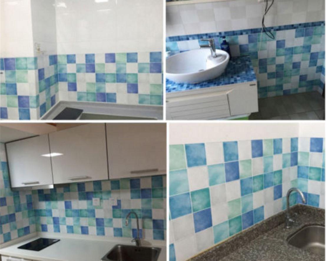 Amazon.com: wall paper adhesive Self-adhesive Mosaic Wall Paper ...