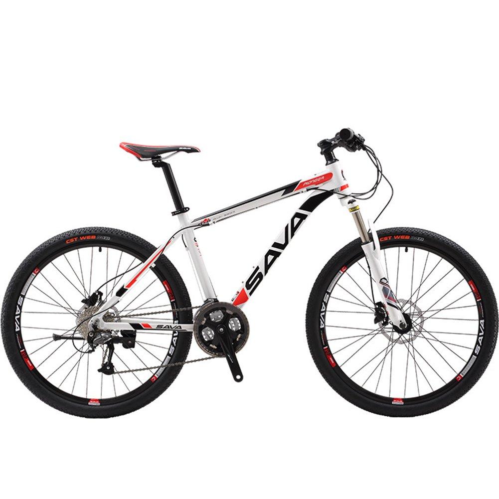 自転車 26インチ  軽量アルミニウム合金フレーム マウンテンバイク シマノ27段変速 前後油圧式ディスクブレーキ搭載 B078W6R111