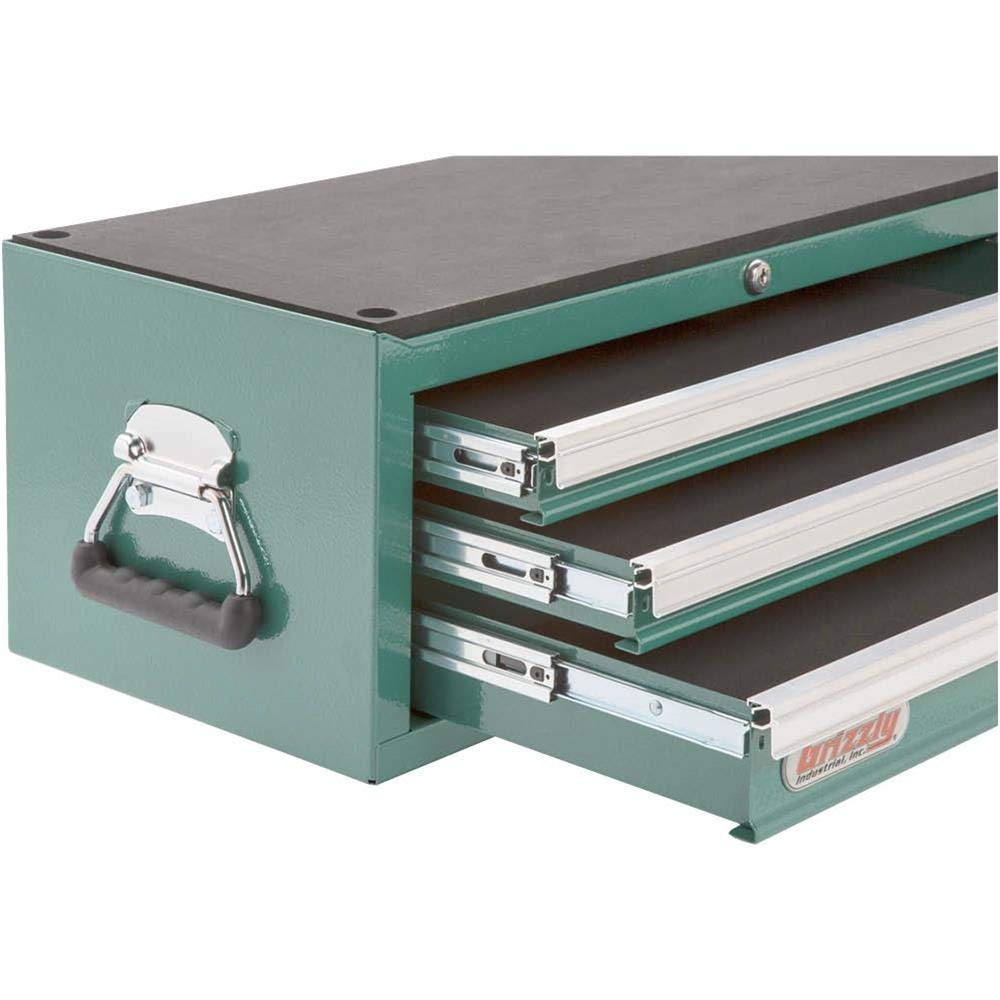 Grizzly H0837 3 Drawer Middle Chest with Ball Bearing Slides by Grizzly (Image #2)