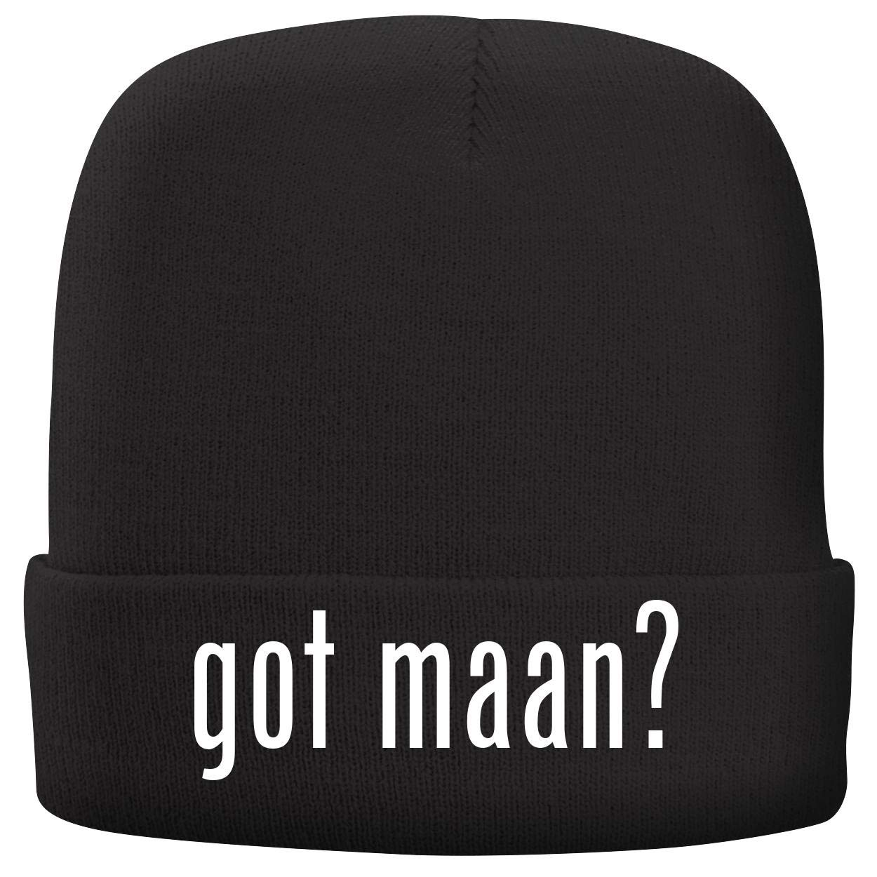 BH Cool Designs got maan? - Adult Comfortable Fleece Lined Beanie, Black by BH Cool Designs