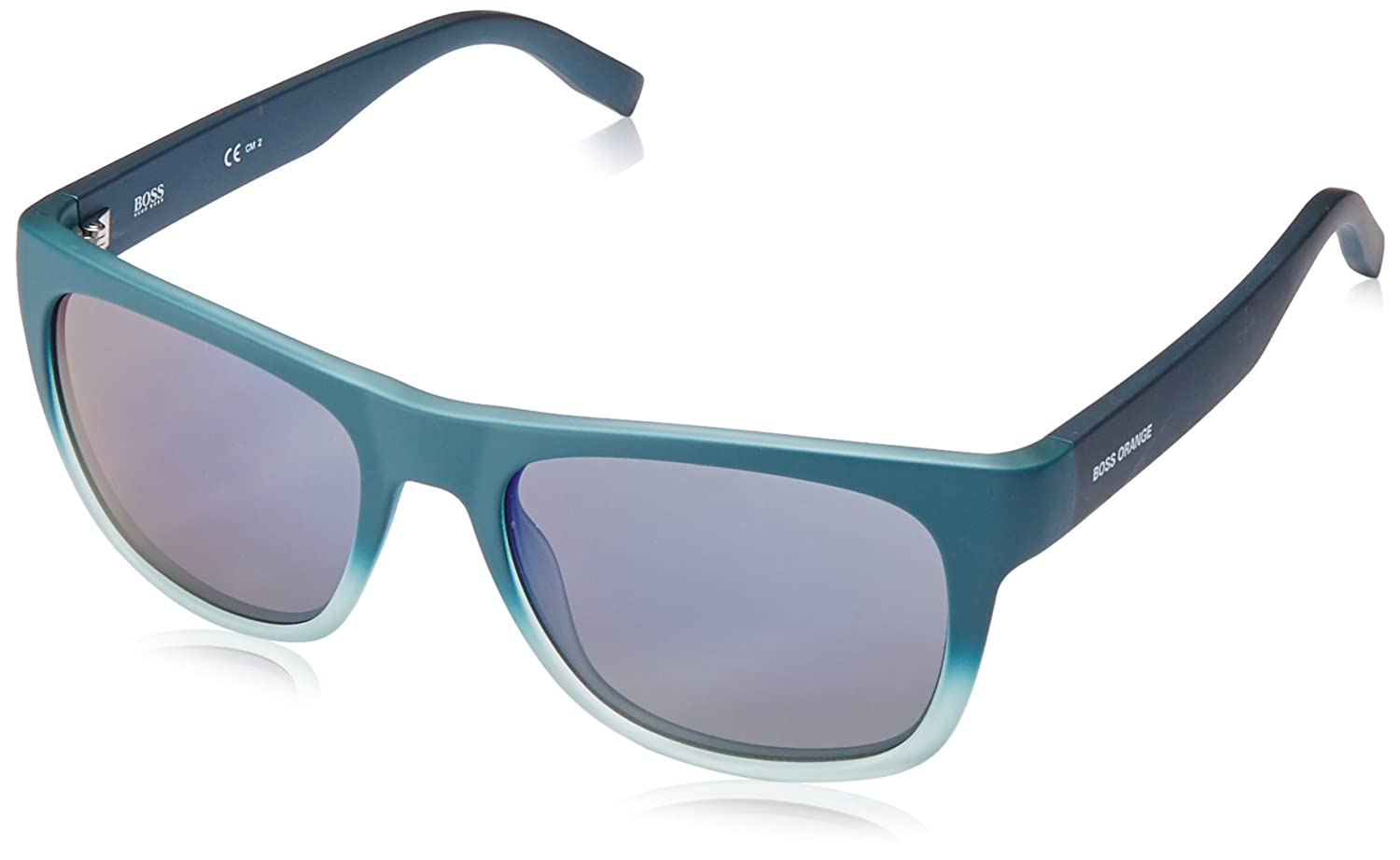 BOSS Orange BO 0249/S 23 SVW, gafas de sol para Hombre, Negro (Petrol/Blue Grey Speckled) 53