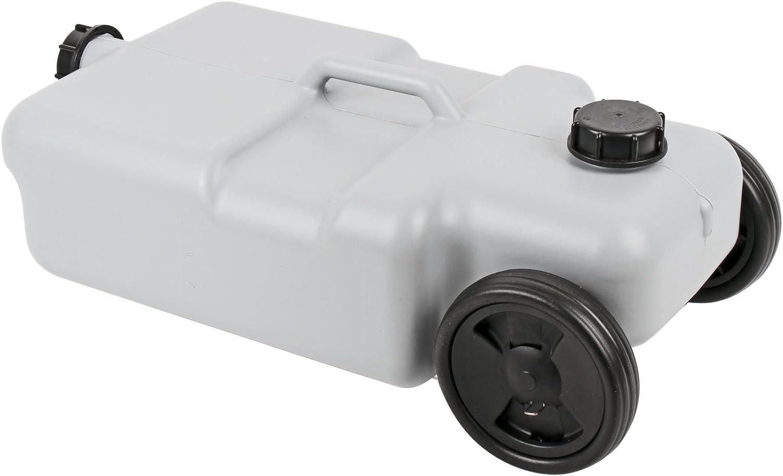 poign/ée t/élescopique R/éservoir d/'eaux us/ées 25/l avec Roulettes id/éal pour caravane gris