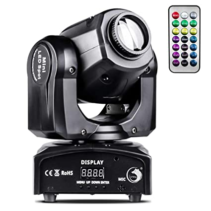 U`King Moving Head Lights RGBW 4 Color Stage Lighting 50W LED Gobo Wash  Light by DMX and Remote Control for DJ Disco Club Wedding Party KTV Show