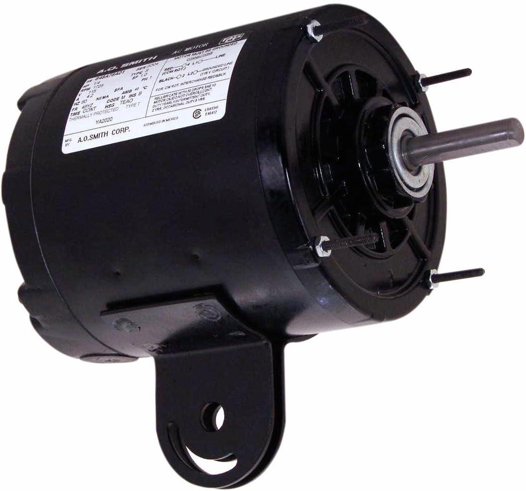 A.O. Smith YA2020 1/4 HP, 1725 RPM, 1 Speed, 115 Volts, 48YZ Frame, TEAO Enclosure, Sleeve Bearing, Reversible Rotation Yoke Mount Pedestal Fan Motor