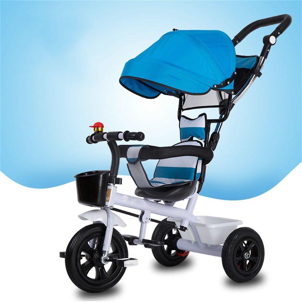 KANGR-子ども用自転車 三輪車の赤ちゃんキャリッジバイク子供のおもちゃの車のインフレータブルホイール/泡ホイールの自転車3ホイール、青(少年/少女、1-3-5歳) ( 色 : B type ) B07BTY8DC5 B type B type