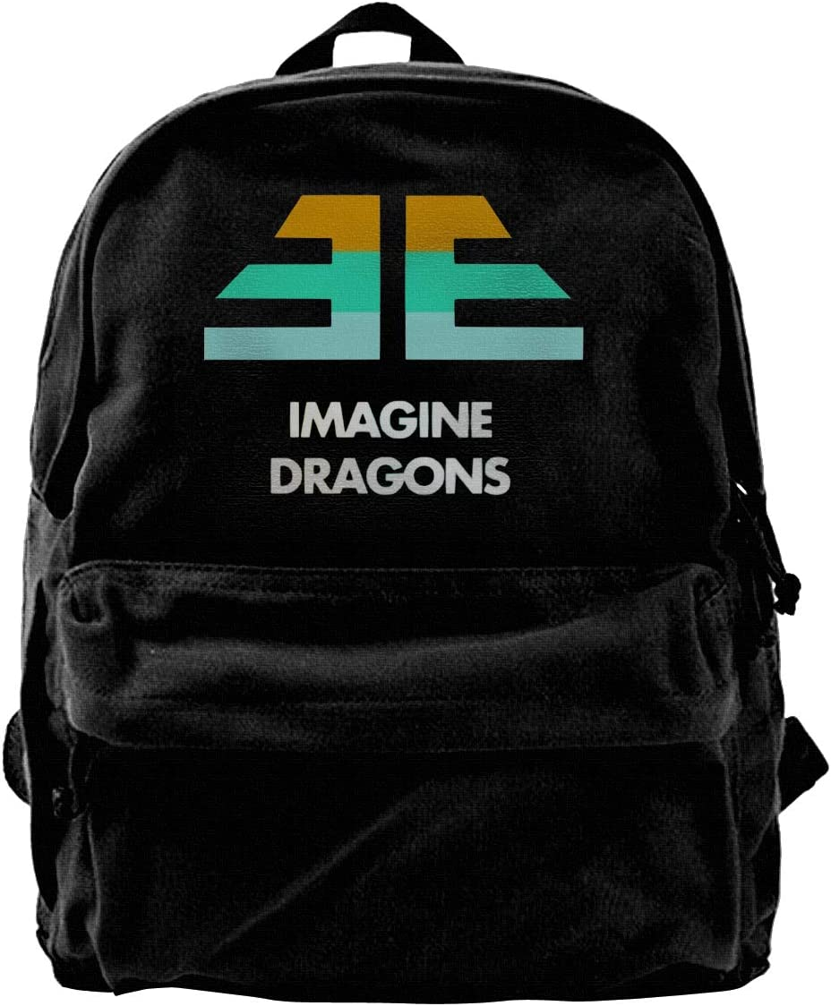 Canvas Backpack Imagine Dragons Logo Simple Black One Size
