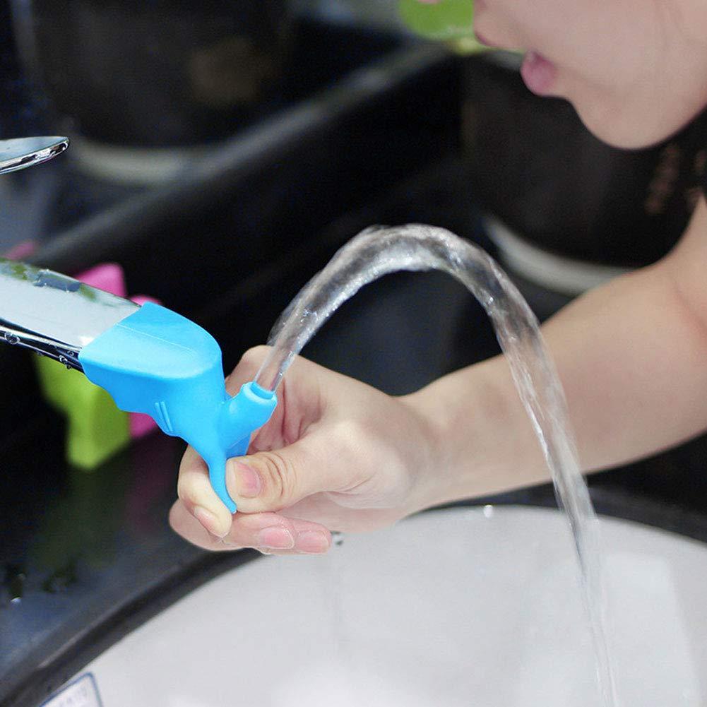 Handw/äsche blau Bggie Silikon-Wasserhahn-Extender f/ür Kinder
