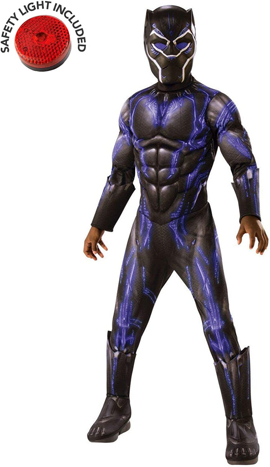 Kids Deluxe Black Panther Adults Fancy Dress Avengers Endgame Superhero Costume
