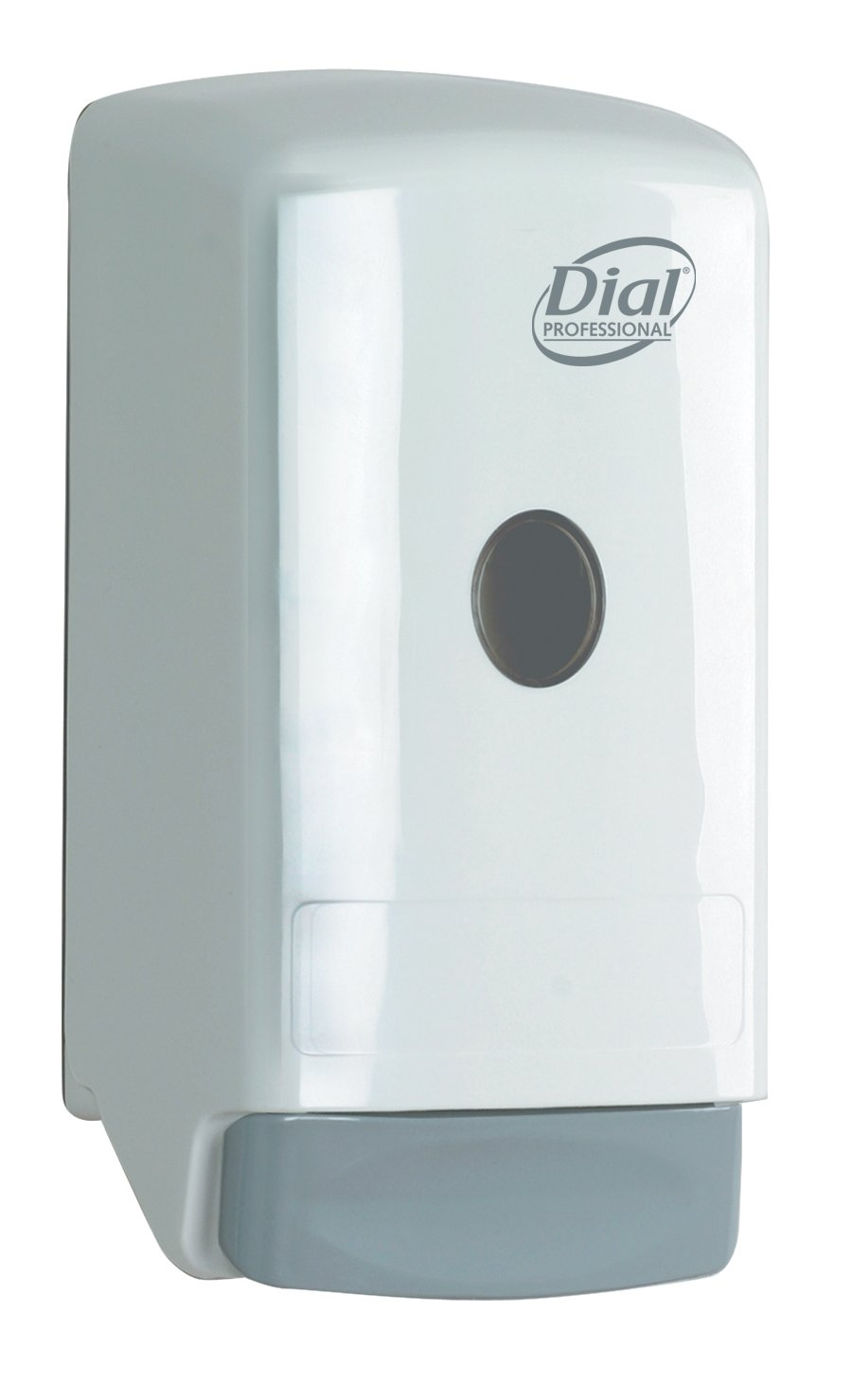 Dial Model 22 800mL White Dispenser for Liquid Hand Soap and Gel Hand Sanitizers,  5.25 Width x 10.25 Height x 4 Depth, (Pack of 6) by Dial