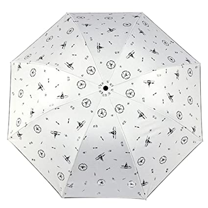Cinhent Umbrella, 2018 Newly Print Folding Parasol Portable Vented Sun/Rain Fashion Umbrella for