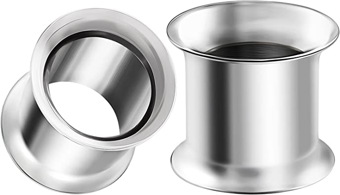 316L Surgical Steel Double Flared Tunnel Plug Up to 2 Sold as a Pair