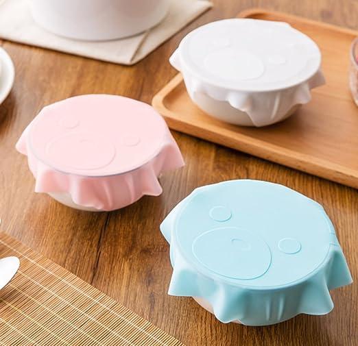 Huir Juego de 3 tapas de silicona para uso de microondas ...