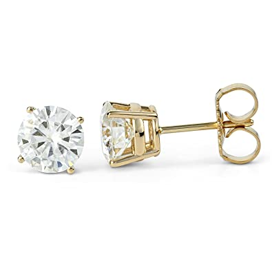 4eaaf702e Image Unavailable. Image not available for. Color: Forever Classic 6.5mm  Round Moissanite Stud Earrings ...