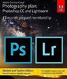 Adobe Creative Cloud Photography plan (Photoshop CC + Lightroom) Student and Teacher [Key Card] - Validation Required [並行輸入品]