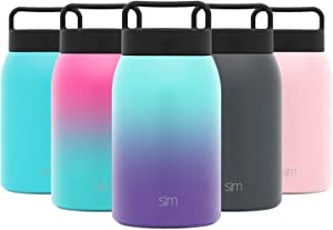 Simple Modern Provision Insulated Food Jar with Handle Lid - 32oz Vacuum Insulated Stainless Steel Thermos Leak Proof Storage Container Flask for Adults, Men and Women Ombre: Tropical Seas