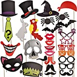 Joyin Toy 30 Pcs Halloween Party Favor Photo Booth Props