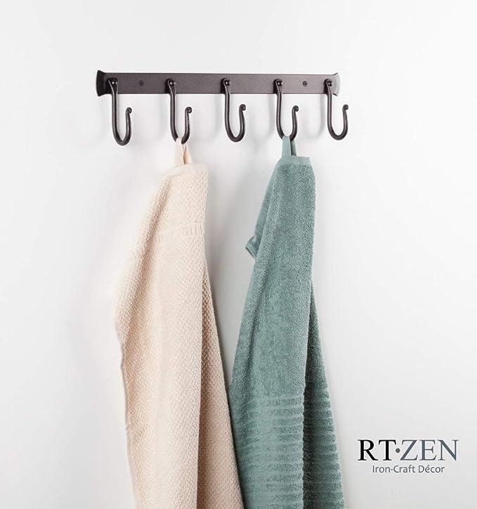 Amazon.com: RTZEN 5 Hooks Classic Decorative Wrought Iron ...