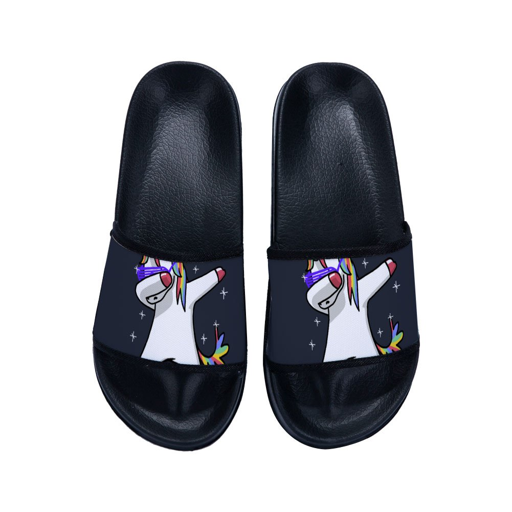 GordonKo Kids Sandals with Cute Unicorns Antiskid Indoor Comfy Pool Swimming Slippers Shoes