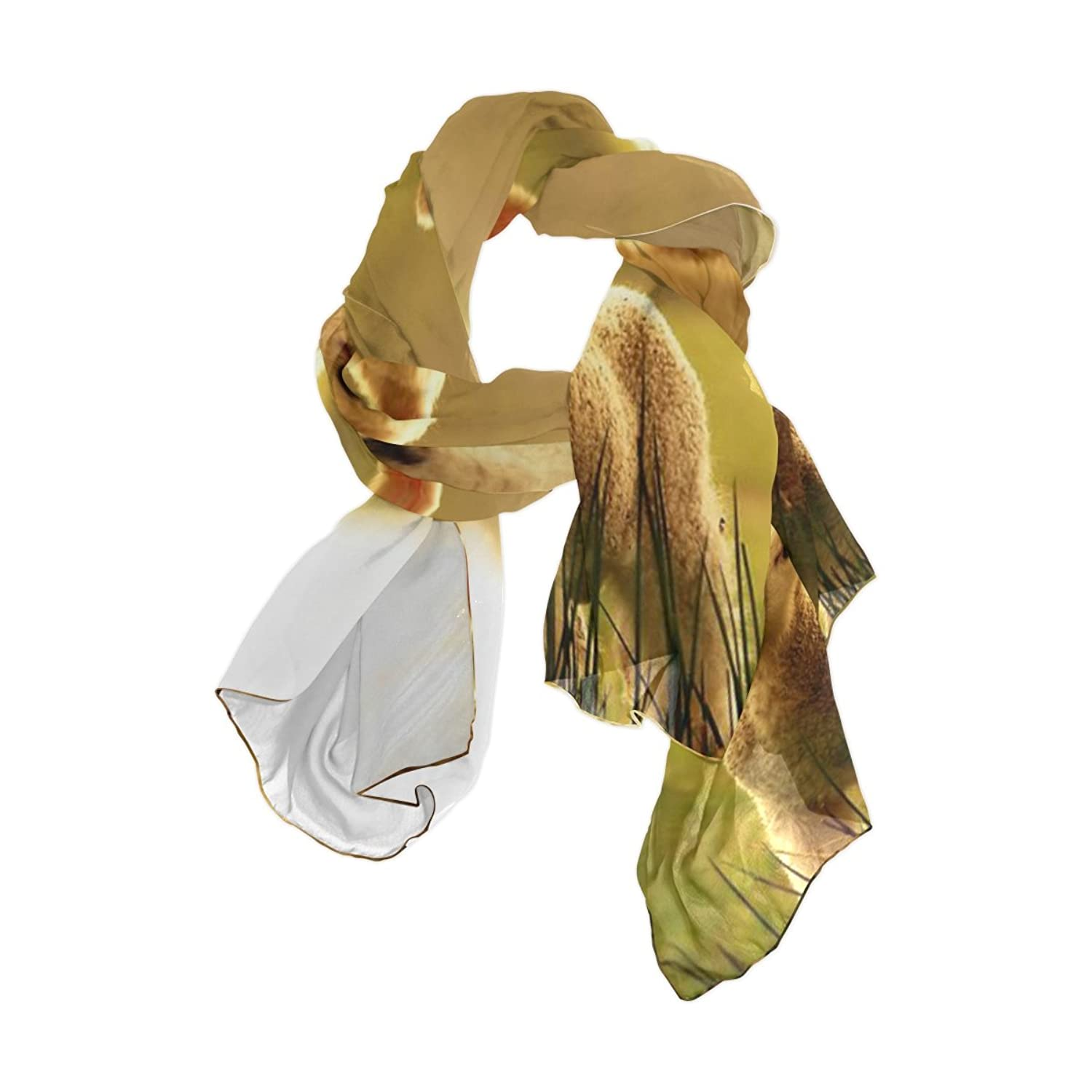 Ablink Wild Little Sheep Sheer Chiffon Scarf Various Style Accessory 70.86x35.4(inch)
