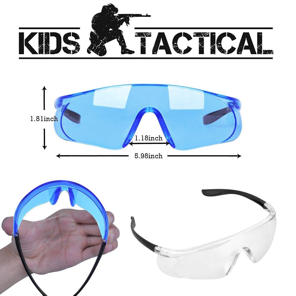 Kids Tactical Vest, 90 Pieces 2 Team Sets Adjustable Tactical Vest for Nerf Guns N-Strike Elite Series with Refill Bullets, Tactical Vests, Reload Clips, Face Masks, Wrist Bands& Glasses for Grouping