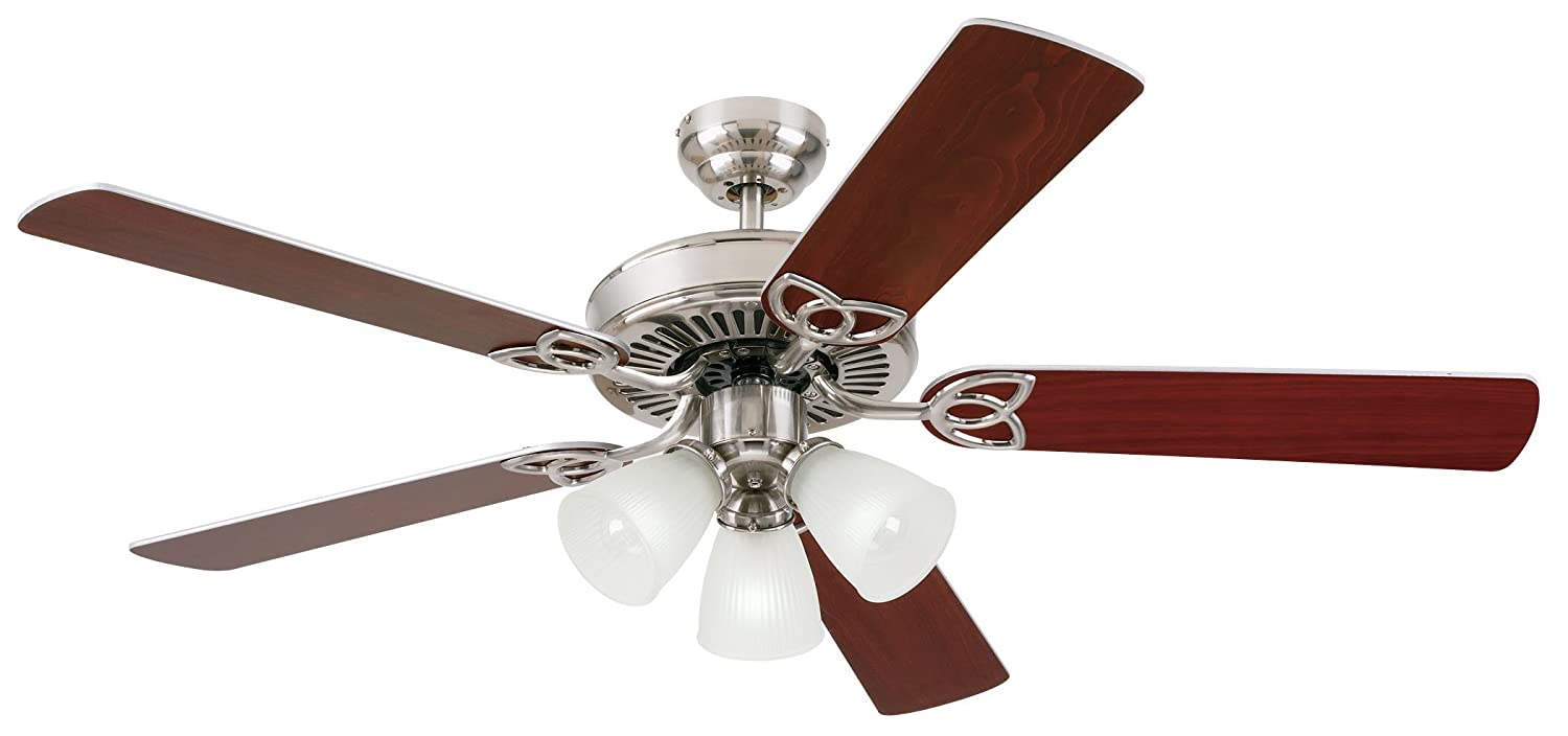 vintage 52 inch ceiling fan brushed nickel finish amazoncom - Vintage Ceiling Fans
