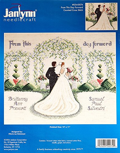 Janlynn Counted Cross Stitch Kit, From This Day Forward
