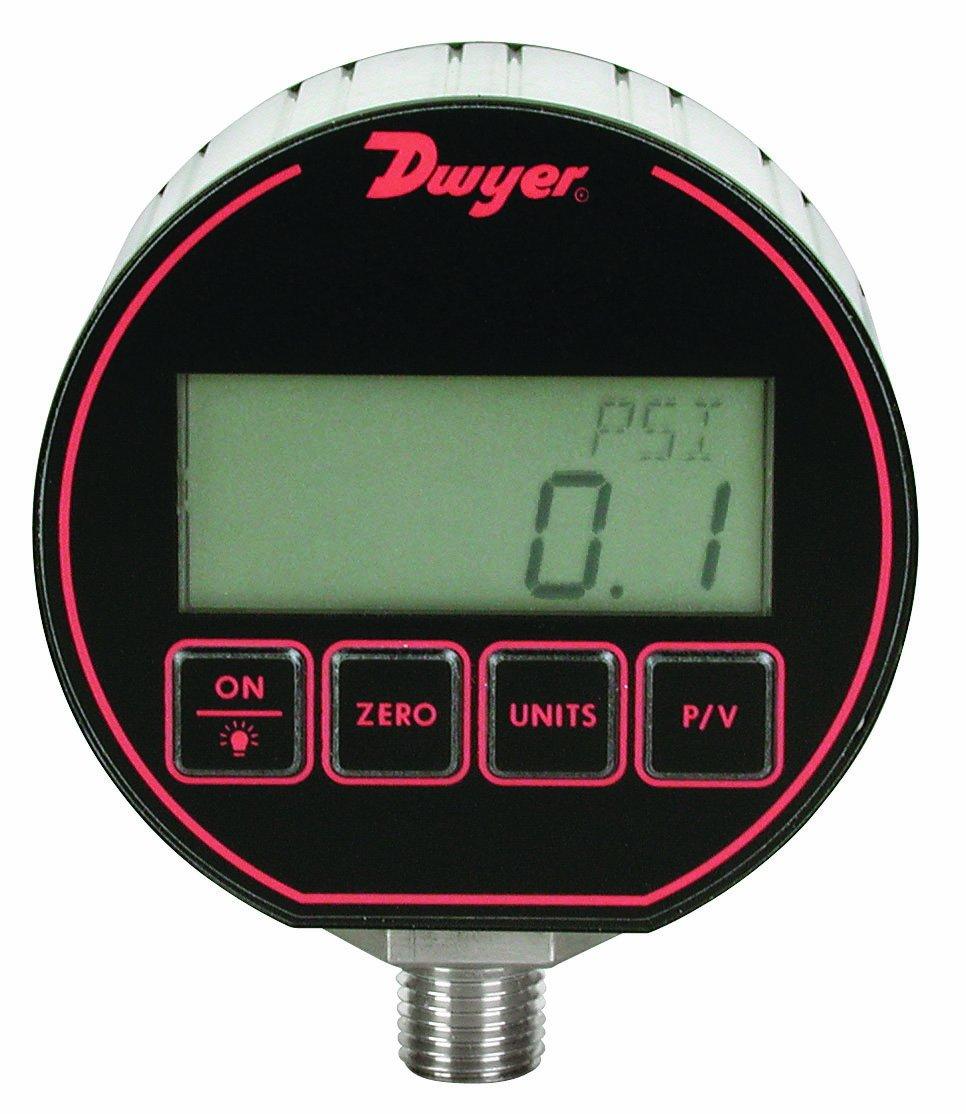 Dwyer DPG Series Digital Pressure Gauge, +/-0.25% Full Scale Accuracy,  Range 0 to 300 psig Dwyer Instruments DPG-107