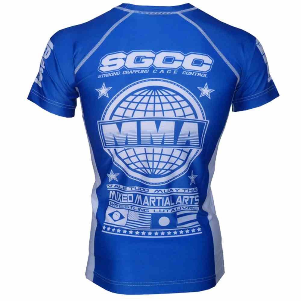 SGCC Rashguard Grand Prix Bleu Tshirt MMA RGPBL