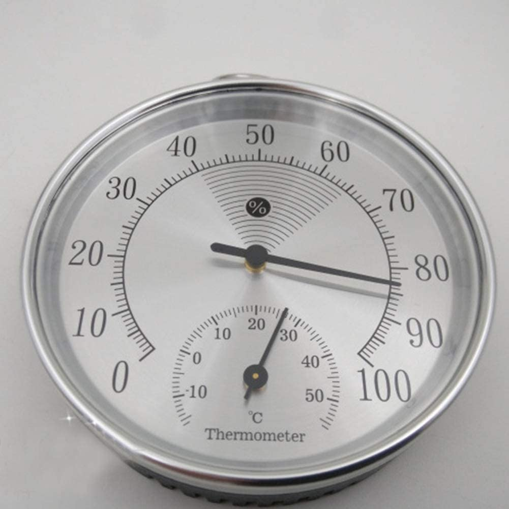 """Mechanical Movement Les yeu 4 in Indoor Temperature Humidity Meter Analog Thermometer Hygrometer 0-100/â/""""/ƒ Without Battery"""
