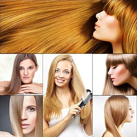 Plancha de Pelo Profecional LCD de temperatura Turmalina de cerámica plancha de pelo herramienta de peinado (Negro): Amazon.es: Belleza
