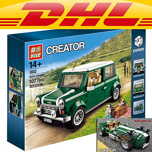Yile 002 MINI Cooper Building Blocks 10242 lepin technic bricks 21002 action figure creator car vehicle toys for children