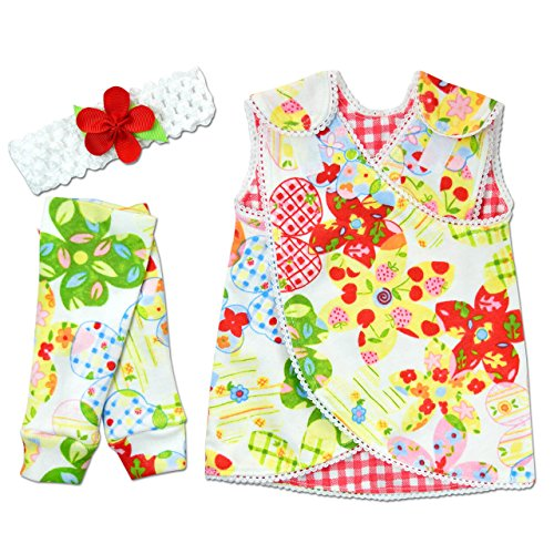 Emma Kids Dress (Perfectly Preemie Reversible Nic-Dress - NICU Friendly (Emma's Garden, Preemie (3-6lbs)))