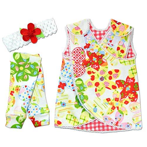 Emma Kids Dress (Perfectly Preemie Reversible Nic-Dress - NICU Friendly (Emma's Garden, Preemie (3-6lbs)))