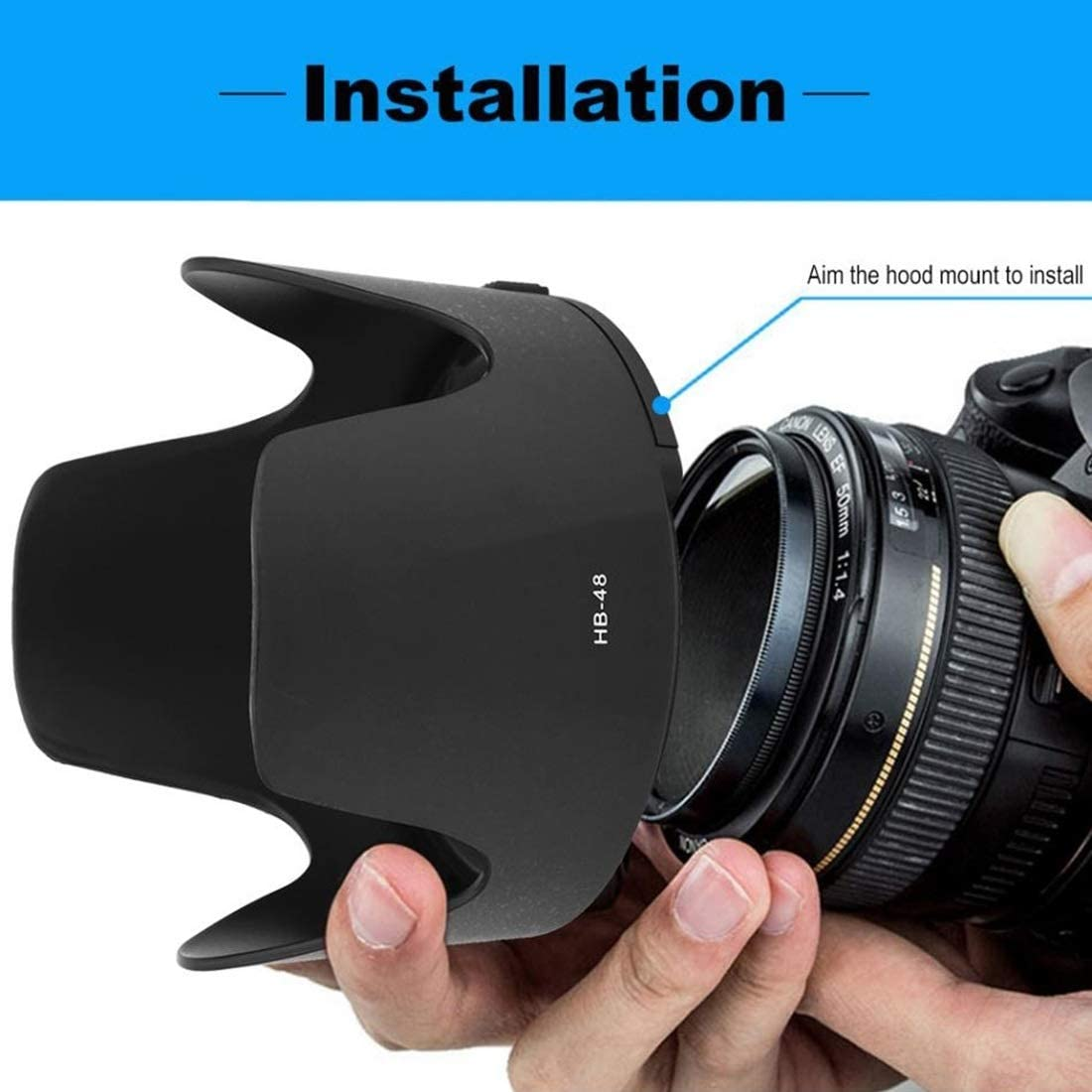 SHUHAN Camera Lens Replacement Part HB-48 Lens Hood Shade for Nikon AF-S 70-200mm f//2.8G VRII Lens Photographic Equipment