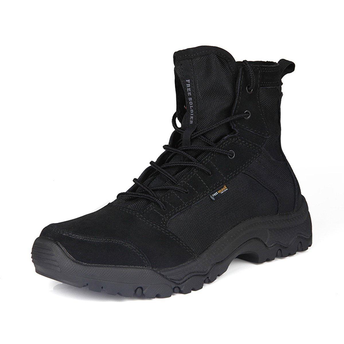 FREE SOLDIER Men's Lightweight Tactical Boots - Desert Tan(Black 10 US)