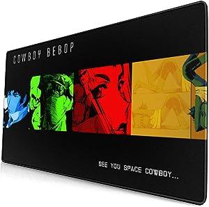 Cowboy Bebop Mouse Pad 15.8x29.5 in Multipurpose Comfortable Waterproof Mousepad Desk Mat for Gamer Office Home (40x75cm)