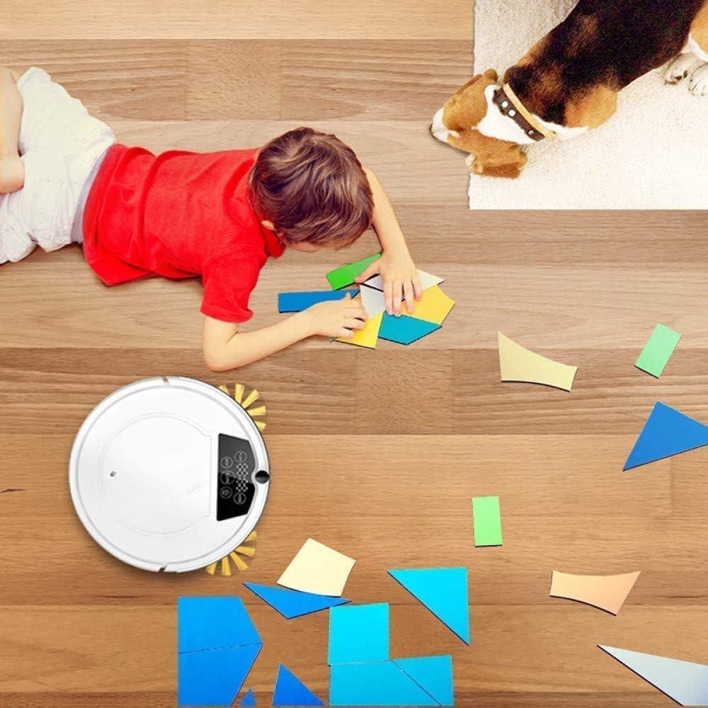 empty Nettoyage Robot-aspirateur SweepWet Mop Hard FloorsCarpet Anti Collision Pet Cheveux Recharge Automatique Vide Contrôle WiFi (Color : White) White