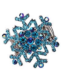Angel Jewelry Women's Crystal Snowflake Stretch Rings